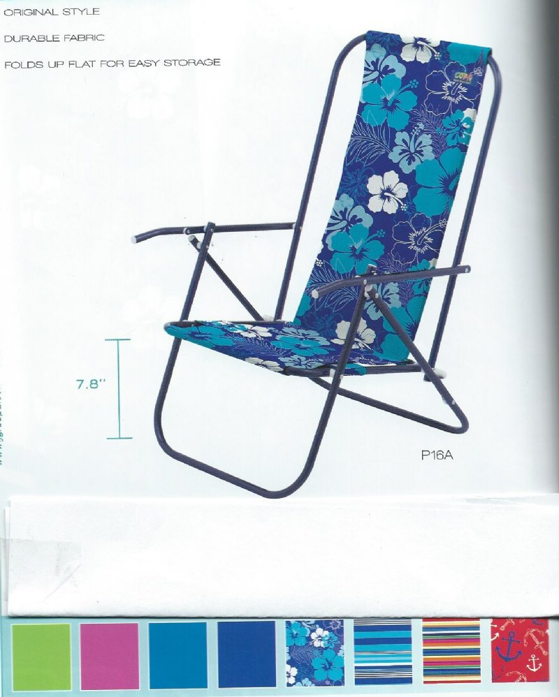 2 beach chairs on the beach - 2 Position Brazilian Style Beach Chairs Wholesale Case Of 9 Assorted Prints And Solids