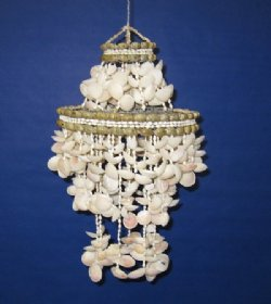 "18"" Wholesale Cockle Shell Chandeliers, and Cockle Shell Wind Chimes for Shell Gifts  -  $20.00 each"