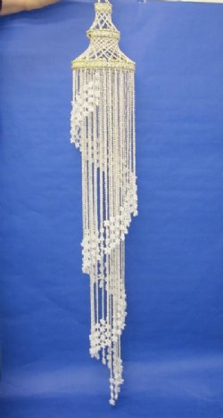 72 inches Wholesale Large  Seashell Spiral Wind Chime, Large Spiral Shell Chandelier  - Minimum: 1 pc @ $21.50 each