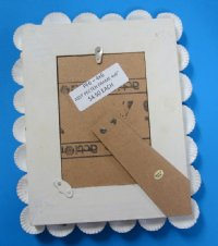 "8""x10"" Wholesale Seashell Picture Frames made with Natural Mixed Shells  for 4""x6"" Photos - Minimum: 3 @ $4.50 each;"