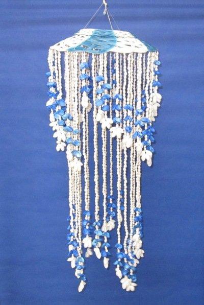 26 Blue White 2 level Seashell Chandeliers – Seashell Chandeliers