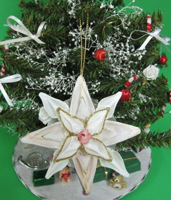 wholesale capiz seashell flower ornaments made with cut strombus shells packed 10 pcs 180 - Flower Christmas Ornaments