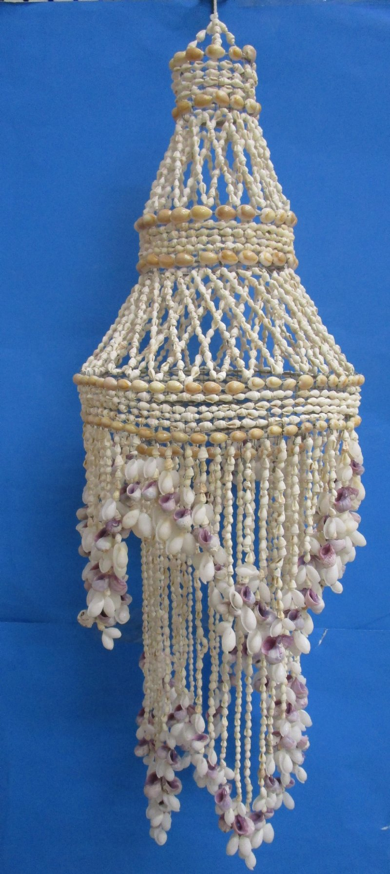 33 inches shell chandelier wholesale made out of white bubble shells 33 inches shell chandelier wholesale made out of white bubble shells natural purple shells and aloadofball Gallery